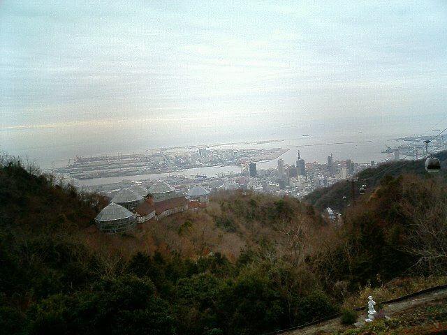 神戸 布引ハーブ園からの眺め