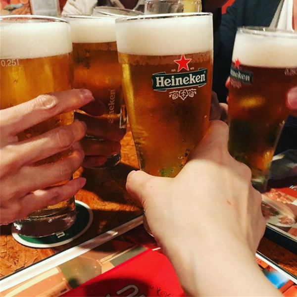 【Instagram】学びが終わってみんなで乾杯!#バル #六本木 2017年6月9日 @ 18:45