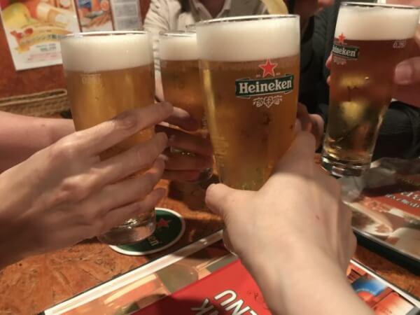 ハイネケンで乾杯!