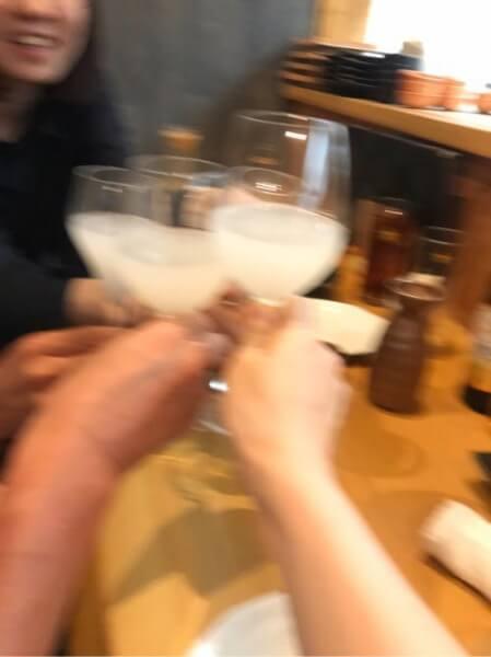 獺祭スパークリングで乾杯!