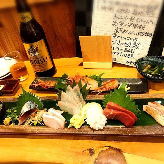 【Instagram】橋本駅近くにある居酒屋「魚男(フィッシャーマン)」で至福の時間過ごしてます(^^)#居酒屋