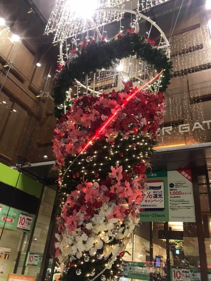 マロニエゲートのクリスマスディスプレイ