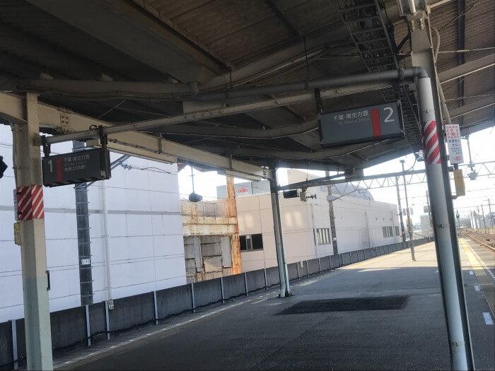 茂原駅ホーム