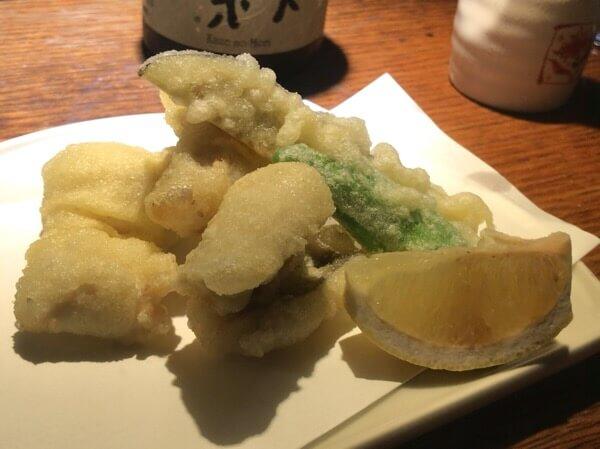 坐唯杏・穴子の天ぷら