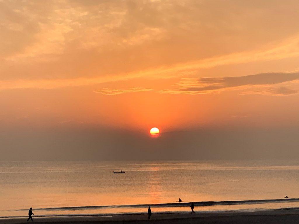 鎌倉の夕陽